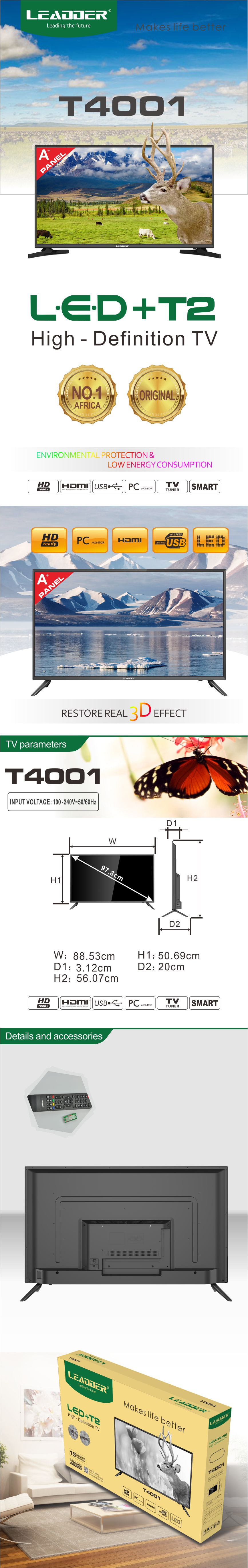 LEADDER LED TV 40 inches High quality surround sound T4001
