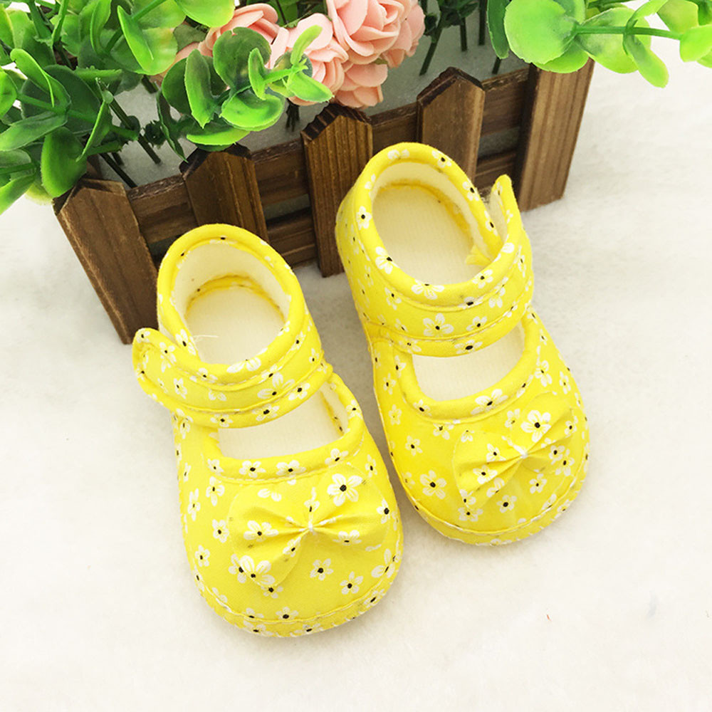 Baby Shoes Canvas Girl Boy Soft Sneaker Kids Flowers ...